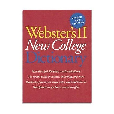 Houghton Mifflin Websters Dictionary in Hardcover