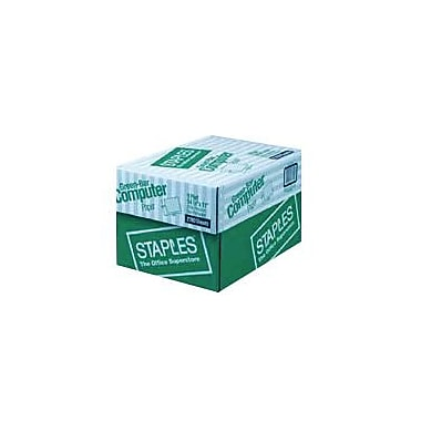 Staples 1-Pt. Recycled Greenbar Computer Paper, 18 lb., 14 7/8in.x11in., 2,700 Sheets/Ct