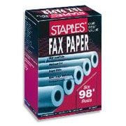 "Staples Thermal Fax Paper, 328' Roll x 1"" Core, 4/Pack (269563)"