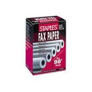 "Staples Thermal Fax Paper with 1/2""core, 8 1/2"" x 98', 6/Pack (18224-CC)"