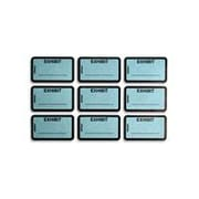 Tabbies Exhibit Labels, Blue