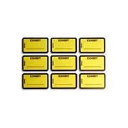 Tabbies Exhibit Labels, Yellow