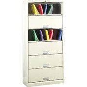HON® 6-Shelf 36 Wide Letter Size File with Receeding Doors, Light Gray