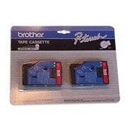 "Brother 2/Pack Red on White 1/2"" tape"