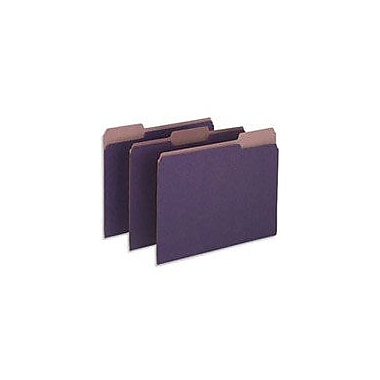 Pendaflex Earthwise® 100% Recycled Colored File Folders, Letter, 3 Tab, Violet, 100/Box