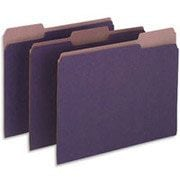 Pendaflex® Earthwise® 100% Recycled Colored File Folders, Letter, 3 Tab, Violet, 100/Box