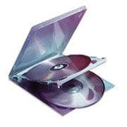 Staples® Double CD Jewel Cases, 10/Pack