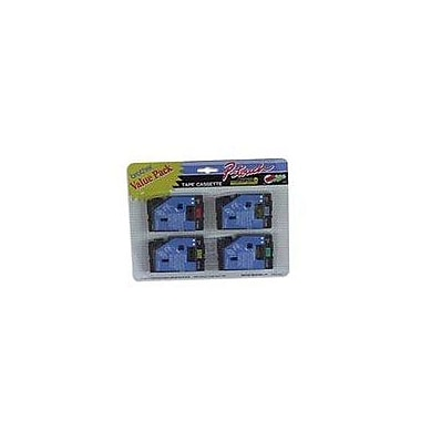Brother 4pk 1/2in. Black on Red, Blue, Yellow, Green tape