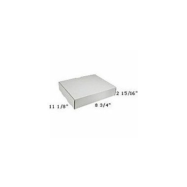 Staples White Corrugated Mailers, 11-1/8in. x 8-3/4in. x 2-5/16in.