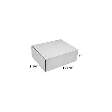 Staples White Corrugated Mailers, 11-1/8in. x 8-3/4in. x 4in.