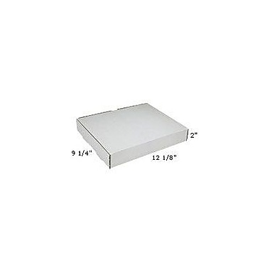 Staples White Corrugated Mailers, 12-1/8in. x 9-1/4in. x 2in.