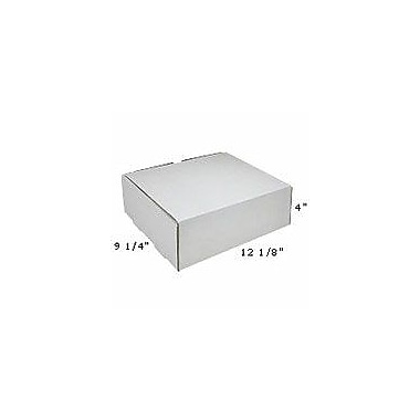 Staples White Corrugated Mailers, 12-1/8in. x 9-1/4in. x 4in.