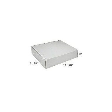 Staples White Corrugated Mailers, 12-1/8in. x 9-1/4in. x 3in.