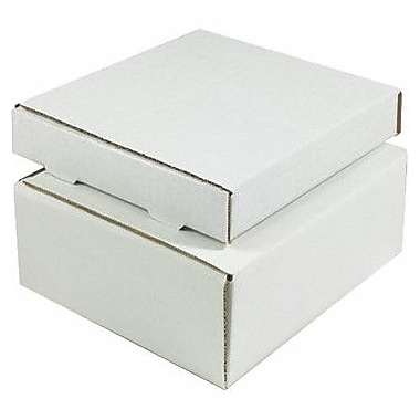 Staples White Corrugated Mailers, 12in. x 11-3/4in. x 3-1/4in.