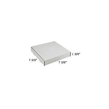 Staples White Corrugated Mailers, 7-3/8in. x 7-3/8in. x 1-3/8in., 50/Bundle