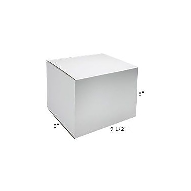 Staples White Outside-Tuck Mailers, 9-1/2in. x 8in. x 8in.