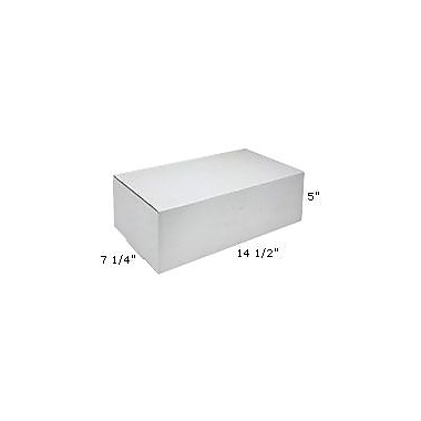 Staples White Outside-Tuck Mailers, 14-1/2in. x 7-1/4in. x 5in.