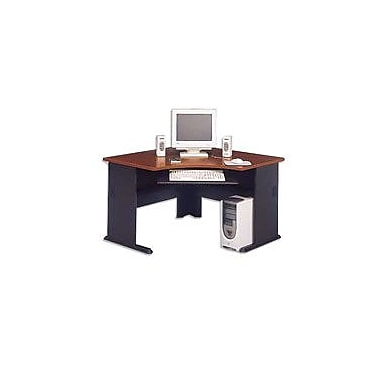 Bush Cubix 48in. Corner Desk, Hansen Cherry/Galaxy, Fully assembled