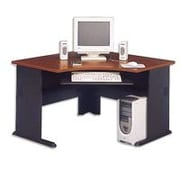 Bush Cubix 48 Corner Desk, Hansen Cherry/Galaxy, Fully assembled