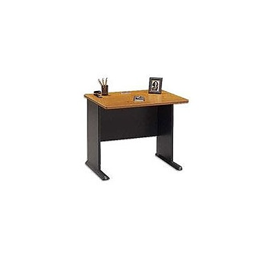 Bush Cubix 36in. Desk, Natural Cherry/Slate Gray, Fully Assembled