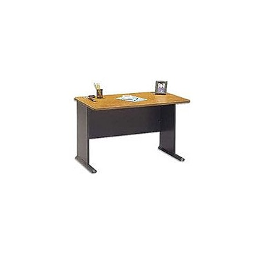 Bush Cubix 48in. Desk, Natural Cherry/Slate Gray, Fully assembled