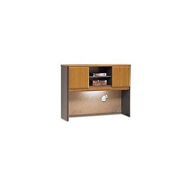 Bush Cubix 48in. Hutch, Natural Cherry/Slate Gray, Fully assembled