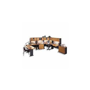 Bush Cubix 60in. Desk, Natural Cherry/Slate Gray, Fully assembled