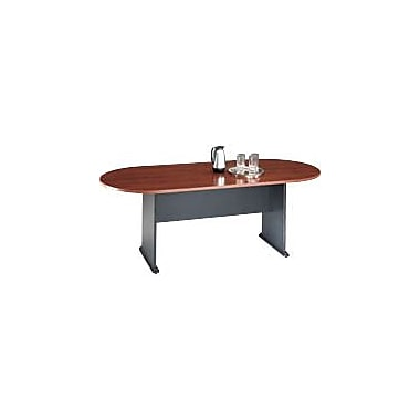 Bush Cubix Racetrack Conference Table, Hansen Cherry/Graphite Gray, Fully assembled