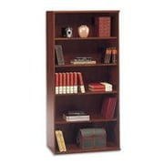 Bush Westfield 5-Shelf Bookcase, Hansen Cherry/Graphite Gray, Fully assembled