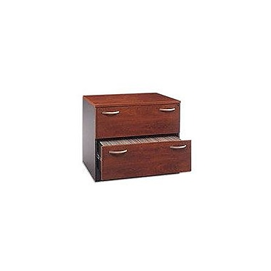 Bush Westfield Lateral File, Hansen Cherry/Graphite Gray, Fully assembled
