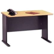 Bush Cubix 48 Desk, Euro Beech/Slate Gray, Fully assembled