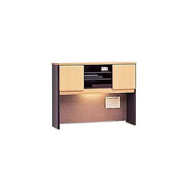 Bush Cubix 48in. Hutch, Euro Beech/Slate Gray, Fully assembled