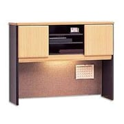 Bush Cubix 48 Hutch, Euro Beech/Slate Gray, Fully assembled