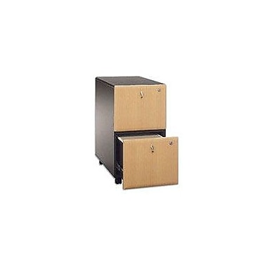 Bush Cubix 2-Drawer File Cabinet, Beech/Slate Gray, Pre-Assembled