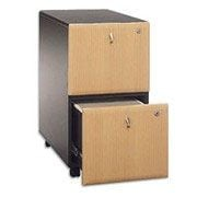 Bush Cubix 2-Drawer File Cabinet, Euro Beech/Slate Gray