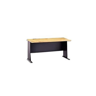 Bush Cubix 60in. Desk, Euro Beech/Slate Gray, Fully assembled