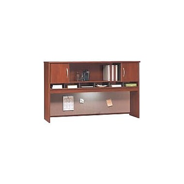 Bush Westfield 72in. 2-Door Hutch, Hansen Cherry/Graphite Gray