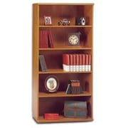 Bush Westfield 5-Shelf Bookcase, Natural Cherry/Graphite Gray Fully assembled