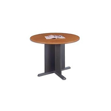 Bush Cubix 42in. Round Conference Table, Natural Cherry/Graphite Gray, Fully assembled