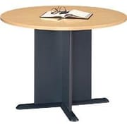 Bush Cubix 42 Round Conference Table, Euro Beech/Slate Gray, Fully assembled