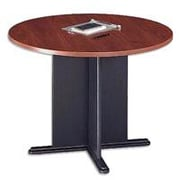 Bush Cubix 42 Round Conference Table, Hansen Cherry/Graphite Gray, White Glove