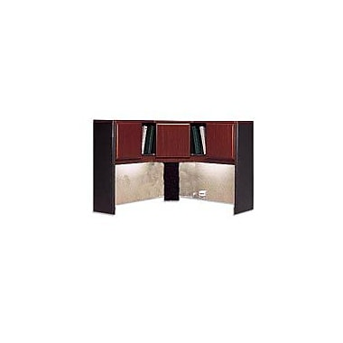 Bush Business Cubix 48W Corner Hutch, Hansen Cherry/Galaxy, Installed