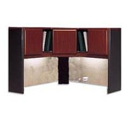 Bush Cubix 48W Corner Hutch, Hansen Cherry, Installed
