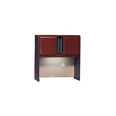 Bush Cubix 36in. Hutch, Hansen Cherry/Galaxy, Fully assembled