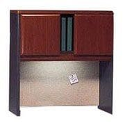 Bush Cubix 36 Hutch, Hansen Cherry/Galaxy, Fully assembled