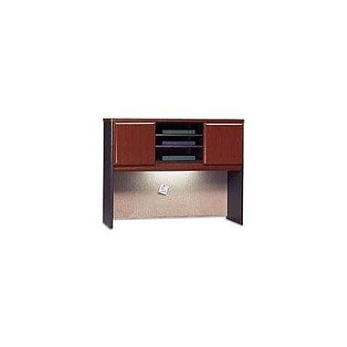 Bush Cubix 48in. Hutch, Hansen Cherry/Galaxy, Fully assembled