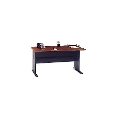 Bush Cubix 60in. Desk, Hansen Cherry/Galaxy, Fully assembled