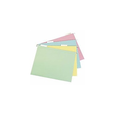 Staples Pastel Hanging File Folders, Letter, 5 Tab, Assorted, 20/Box