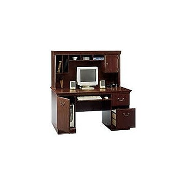 Bush Furniture Birmingham 60W Desk with Hutch, Harvest Cherry