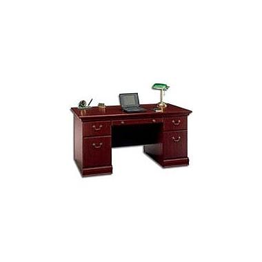 Bush Birmingham 60'' Double Pedestal Desk, Harvest Cherry